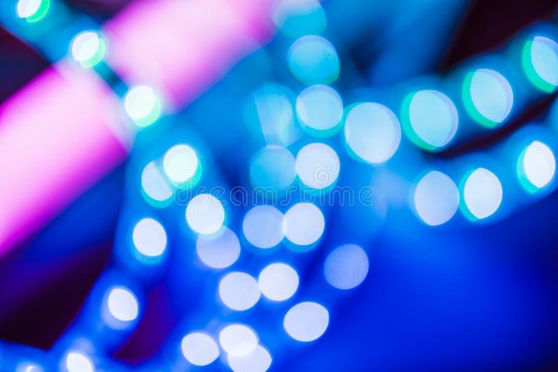 Ultravioletto del fondo della luce del bokeh immagini stock