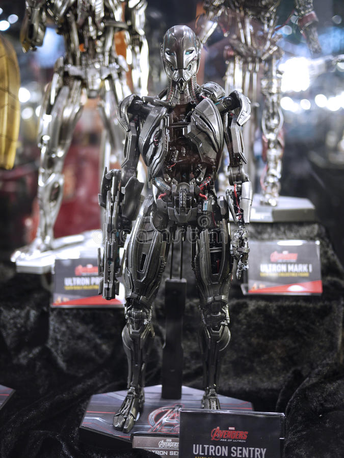 Ultron in Toy Soul 2015 stock foto