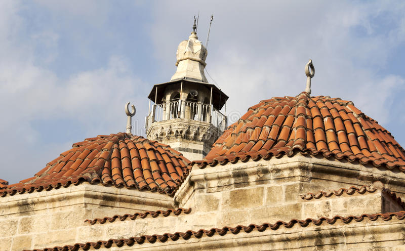 Ulu Cami. Rooftop of the Ulu Cami, Adana Turkey stock image