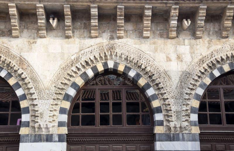 Ulu mosque, Adana Turkey. Turkish architecture sample for the wiondows stock image