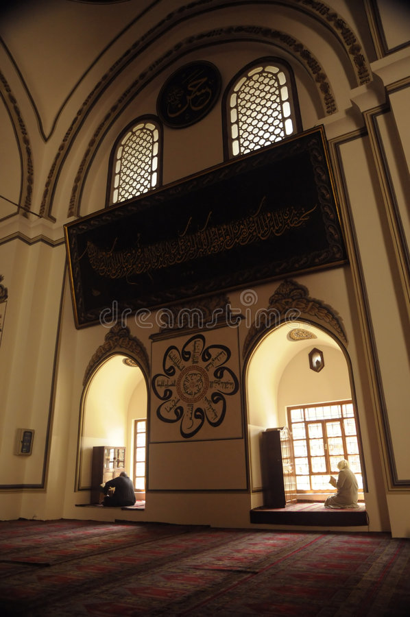 Ulu mosque_Bursa royalty free stock photo
