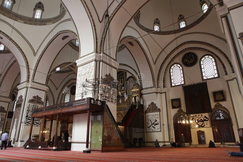 Ulu Mosque nella città di Bursa immagini stock