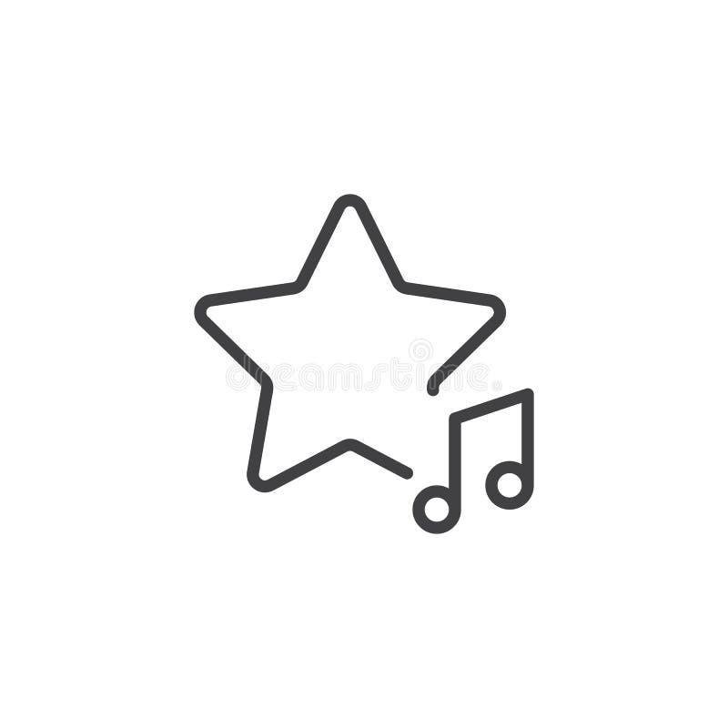 Ulubiona muzyczna tempo linii ikona ilustracji