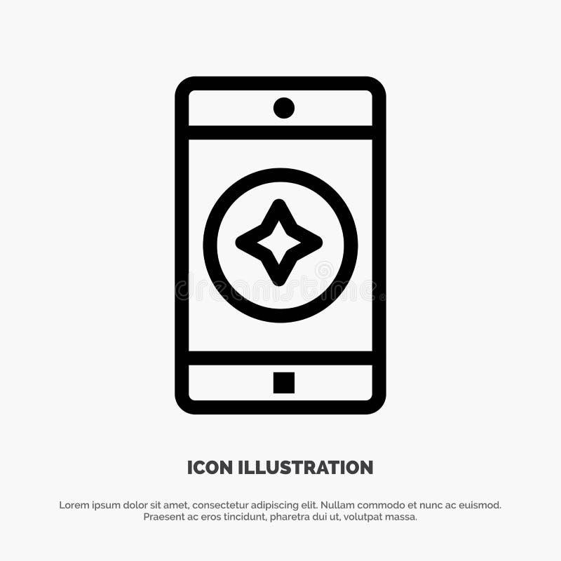 Ulubiona wisząca ozdoba, wisząca ozdoba, Mobilny zastosowanie linii ikony wektor ilustracji