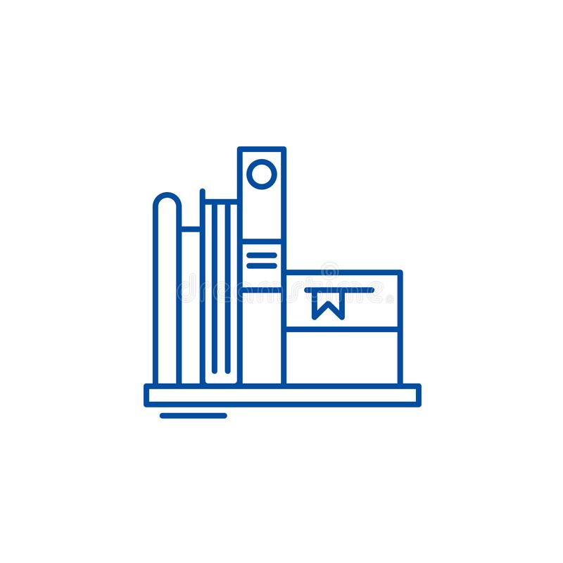 Ulubionych książek ikony kreskowy pojęcie Faworyt rezerwuje płaskiego wektorowego symbol, znak, kontur ilustracja royalty ilustracja