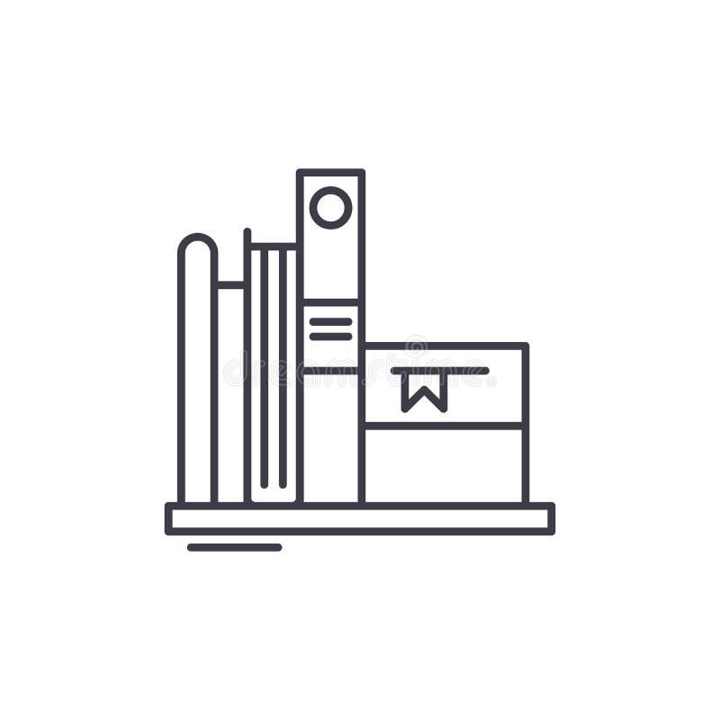 Ulubionych książek ikony kreskowy pojęcie Faworyt rezerwuje wektorową liniową ilustrację, symbol, znak ilustracji