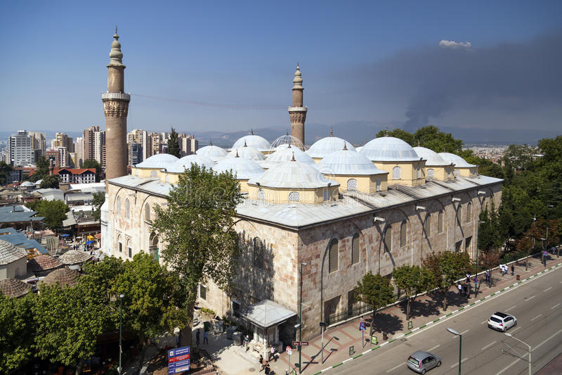 Ulucami,伯萨,土耳其 免版税库存图片
