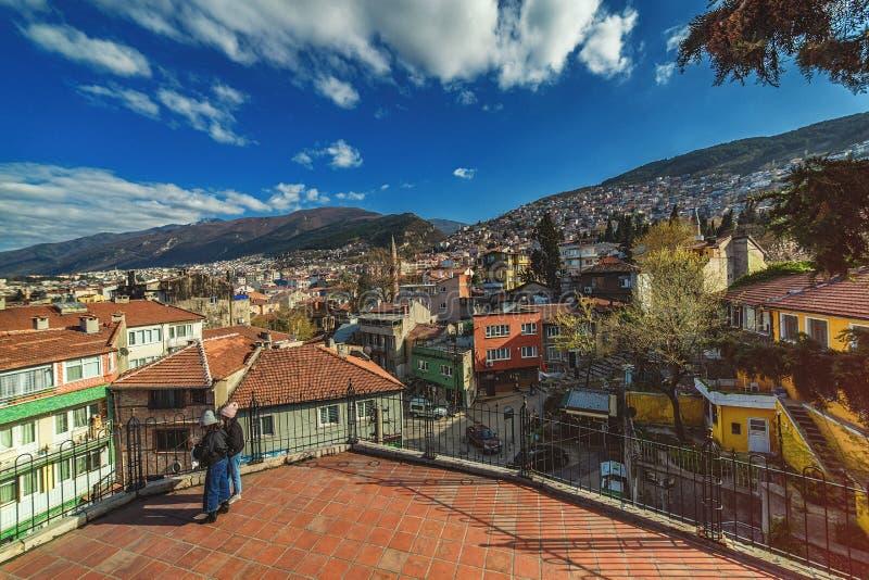 Του χωριού σπίτια στις βουνοπλαγιές Uludag, Bursa στοκ εικόνες με δικαίωμα ελεύθερης χρήσης