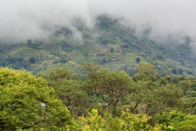 Uluguru Mountains in the Eastern Region of Tanzania stock photo
