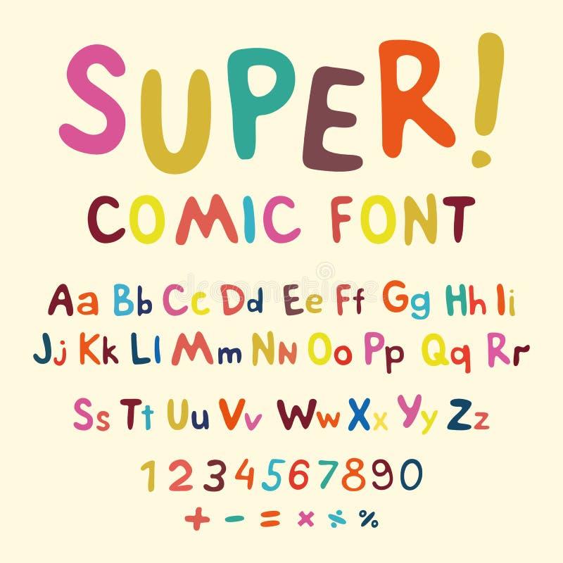 ululación Alta fuente creativa del detalle para su diseño El alfabeto en el estilo de los tebeos Estallido de los gráficos - arte ilustración del vector
