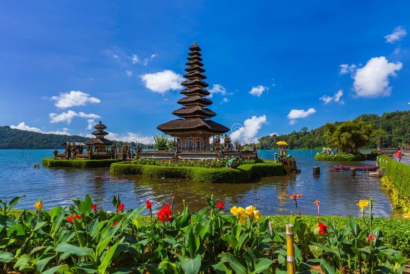 Ulun Danu寺庙-巴厘岛印度尼西亚 库存图片