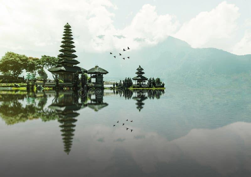 Ulun Danu Beratan Temple, Bali stock photos