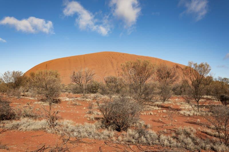 Uluru艾瑞斯岩石 免版税库存照片