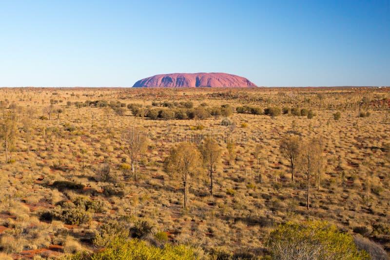 Uluru на заходе солнца стоковое фото