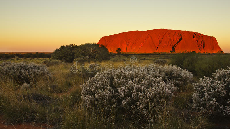 Uluru royalty-vrije stock afbeeldingen