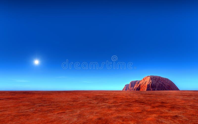 Uluru - Ayers Roch Austrália ilustração stock