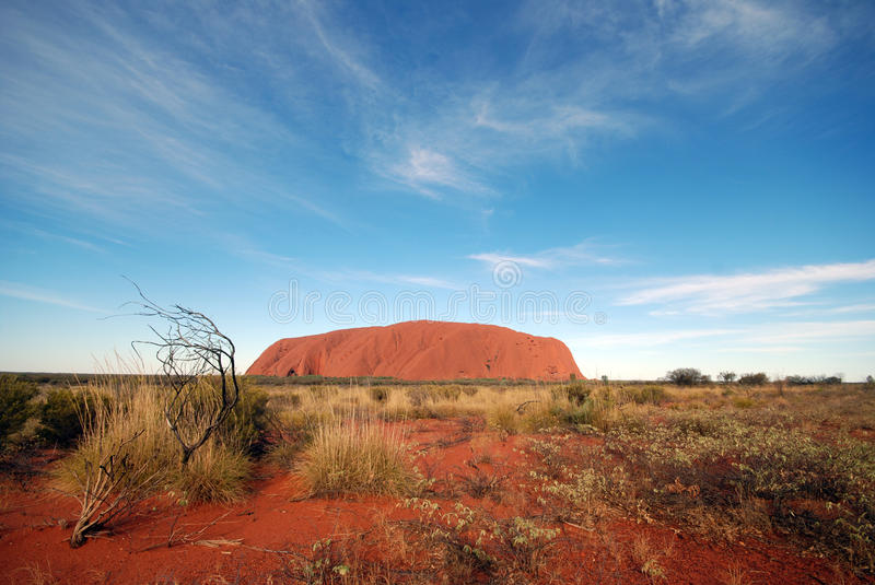 Uluru - Ayers Rock. Uluru (Ayers Rock). Uluru – Kata Tjuta National Park, Northern Territory, Australia stock photography