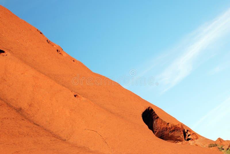 Uluru - Ayers Rock fragment royalty free stock photos