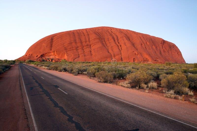 Uluru at dusk stock photo