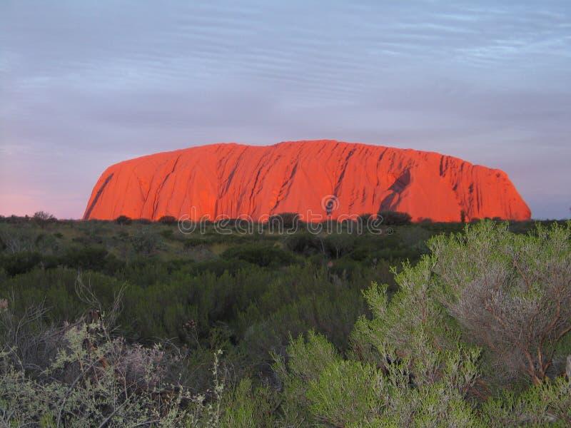 Uluru - Kata Tjuta National Park Outback Australien stockfotografie