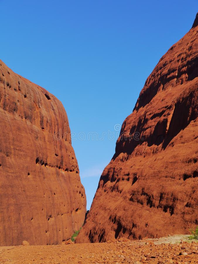 Uluru-Kata Tjuta nationalpark royaltyfria bilder