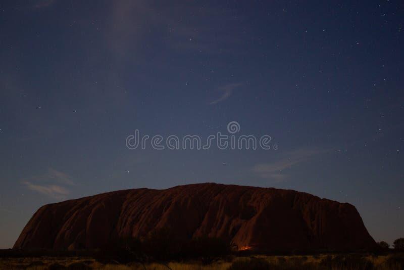 Uluru at night, ayers Rock, the Red Center of Australia, Australia stock photos