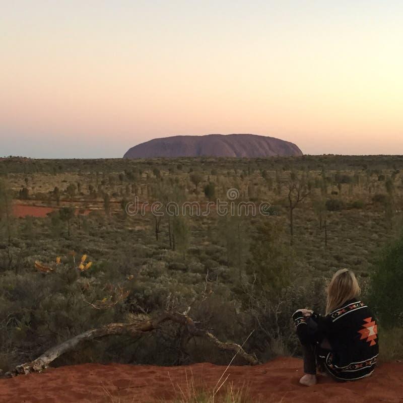 Uluru stock photo
