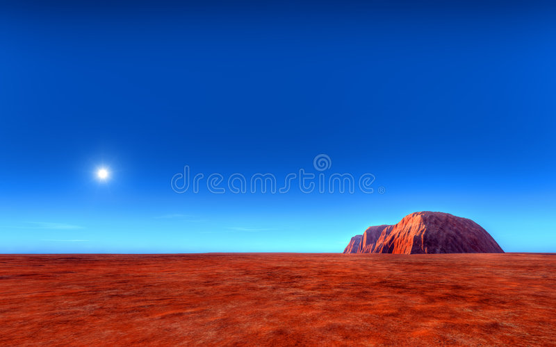 uluru roch ayers Австралии иллюстрация штока