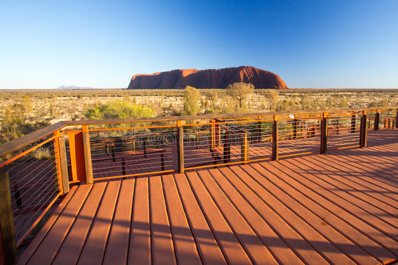 Uluru at Sunrise stock image