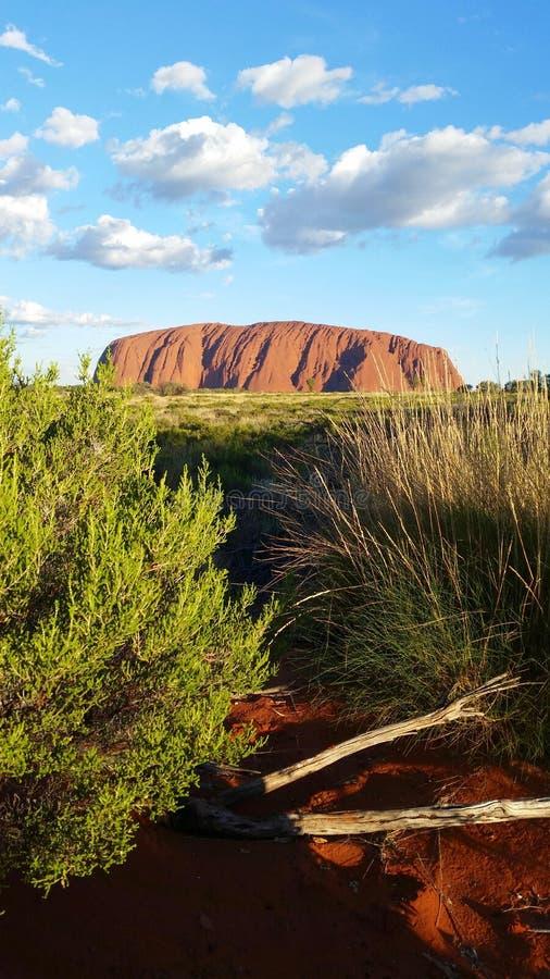 Uluru, territoire du nord, Australie 02/22/18 Vue des couleurs toujours changeantes d'Uluru au coucher du soleil d'un visionnemen images stock