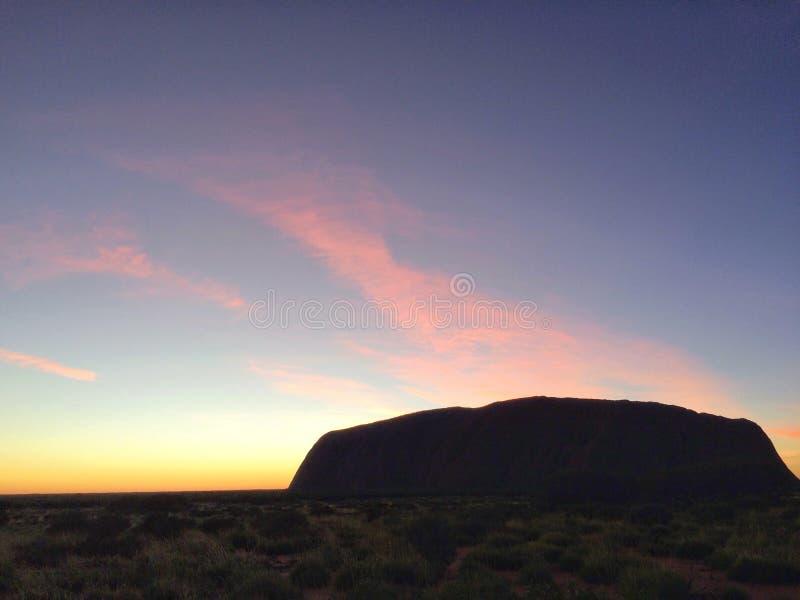 Uluruwoestijn royalty-vrije stock afbeelding