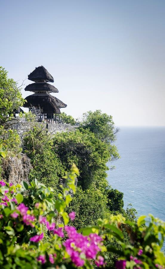 Uluwatu古老地标clifftop巴厘语印度寺庙在巴厘岛 库存照片