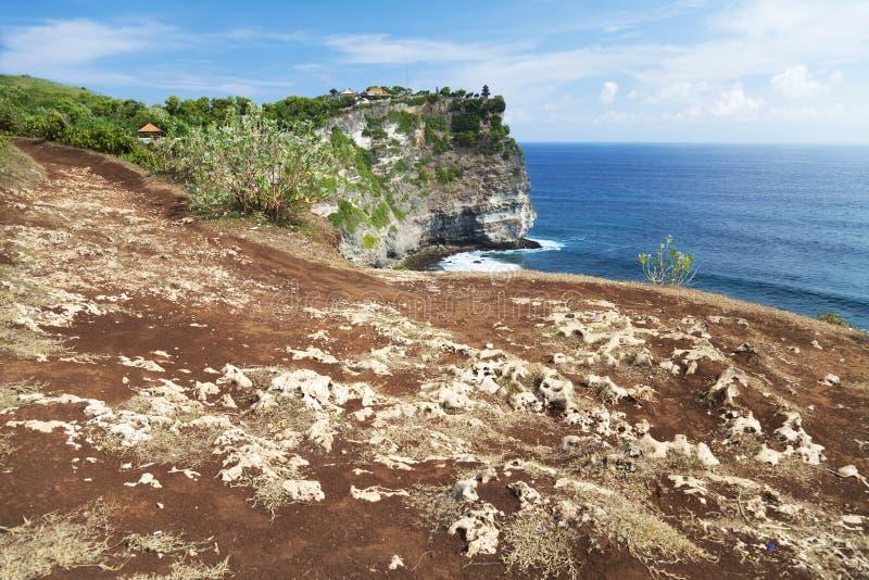 uluwatu ναών απότομων βράχων του Μπ&a στοκ εικόνες
