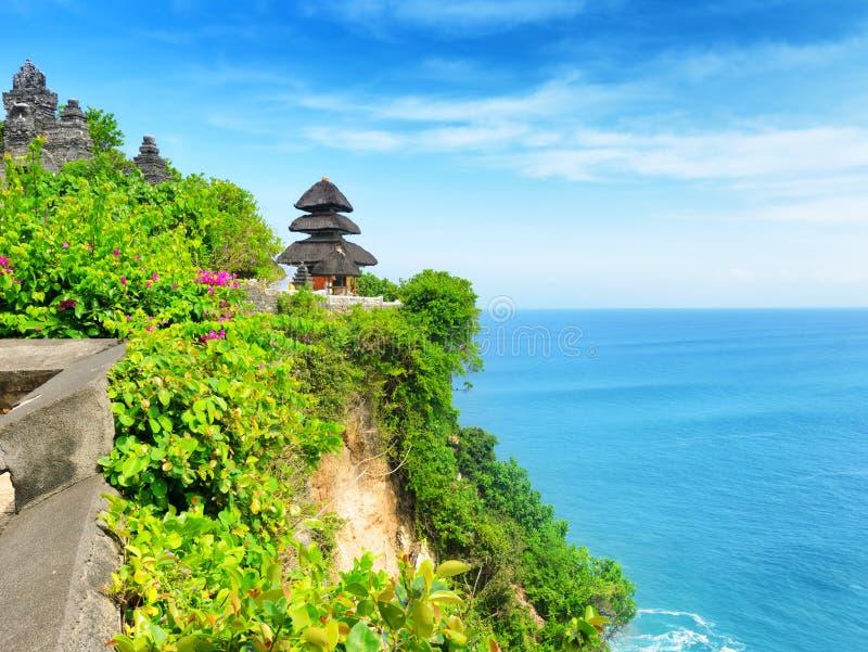 Uluwatu tempel, Bali ö, Indonesien arkivfoto