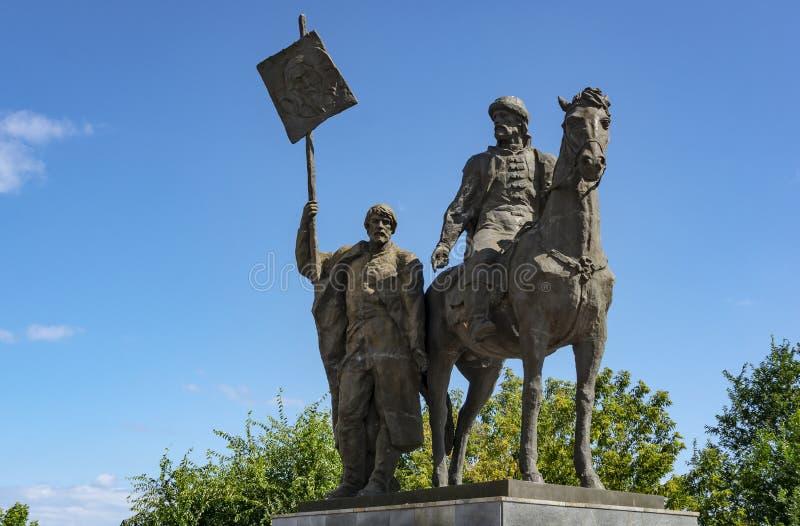 Ulyanovsk, Rusland - Augustus 10, 2018: Monument aan Khitrovo Bogdan - stichter van de stad van Simbirsk royalty-vrije stock fotografie