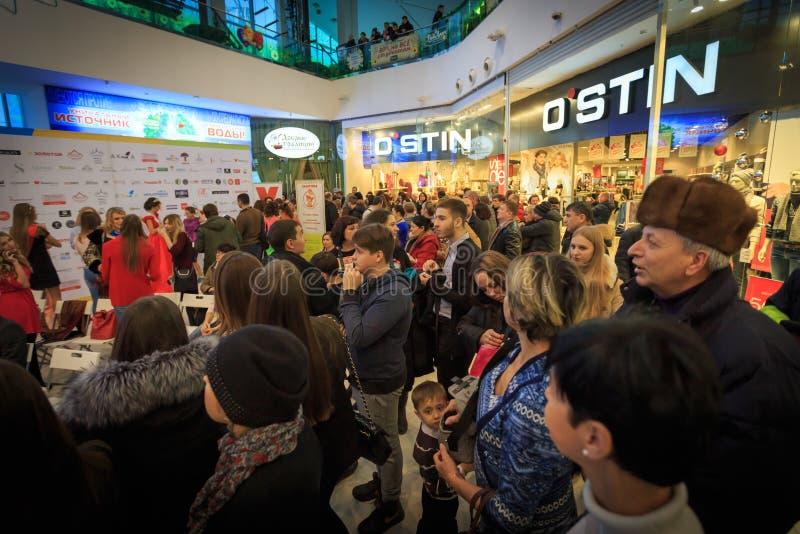 ULYANOVSK, RUSSIA, DECEMBER 03, 2016: Beauty Contest Miss Ulyanovsk in mall on December 03, 2016 in Ulyanovsk, Russia. ULYANOVSK, RUSSIA, DECEMBER 03, 2016
