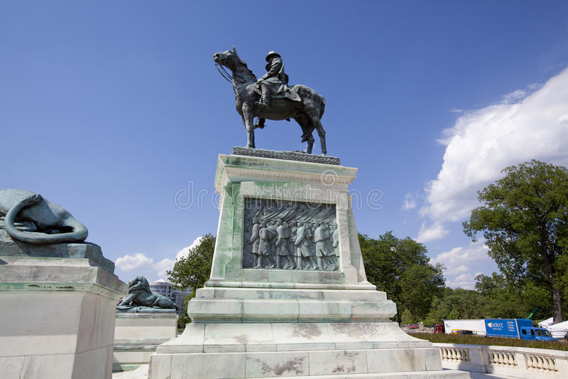 Ulysses S Grant pomnik obraz royalty free