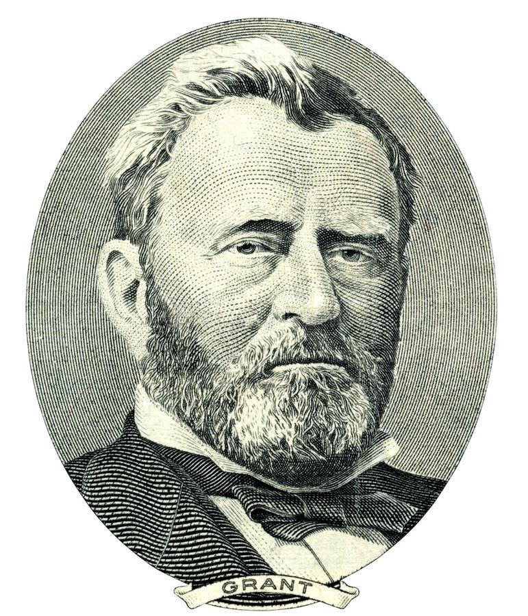 Ulysses S. Grant ståendeutklipp (den snabba banan) royaltyfri illustrationer