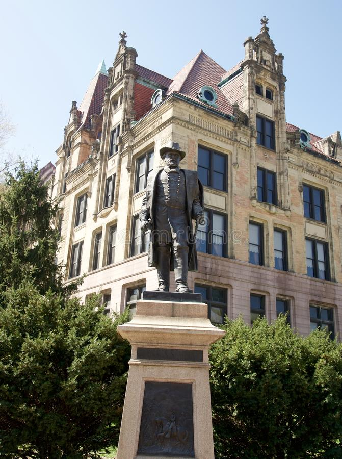 Ulysses S. Grant Statue in Downtown St. Louis royalty free stock photo