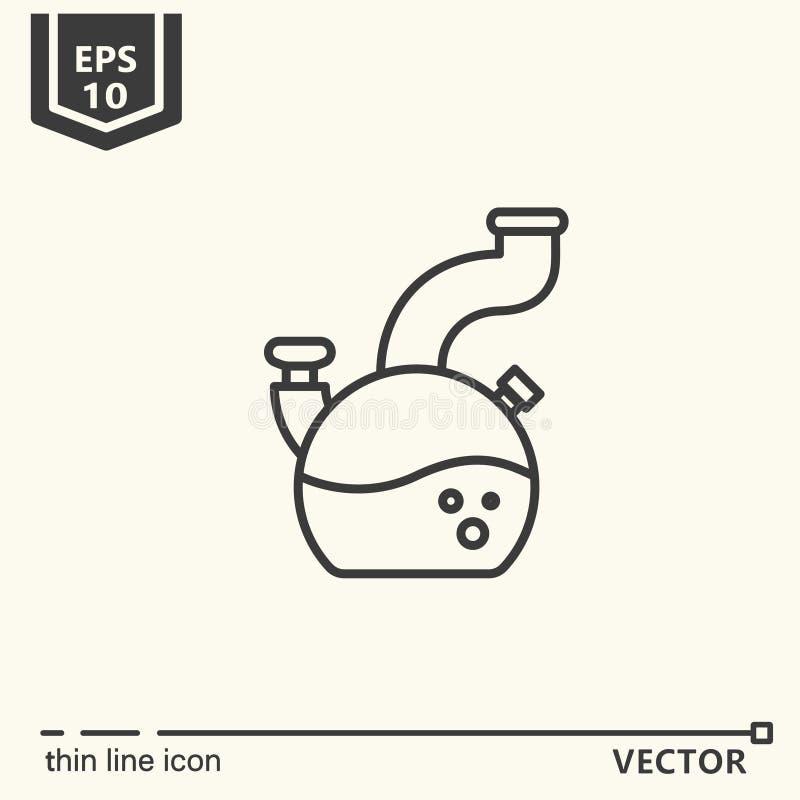 Um ícone - Bong ilustração stock