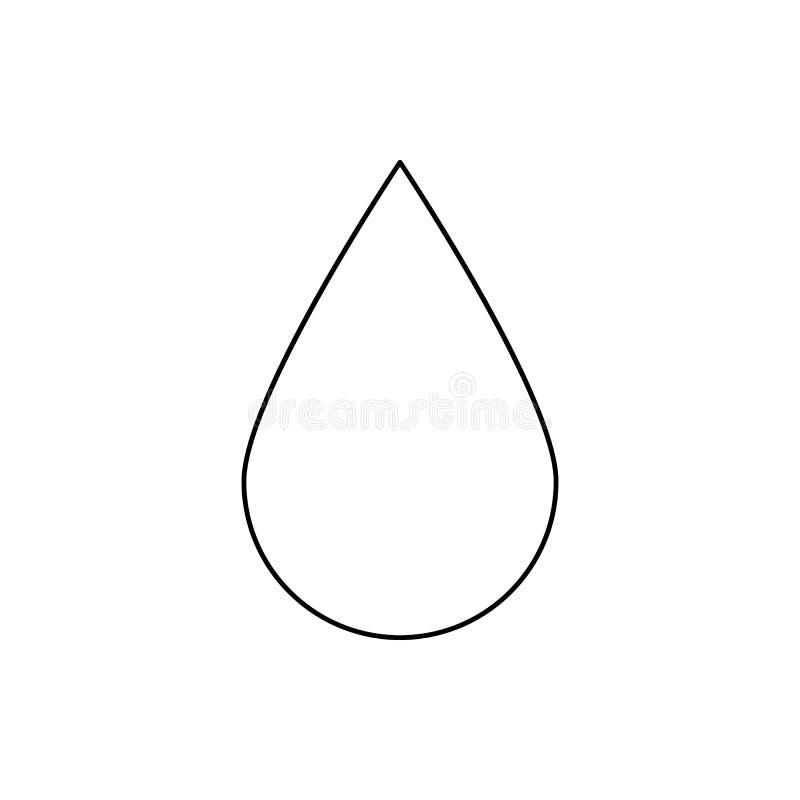 um ícone da gota Elemento da Web para o conceito e o ícone móveis dos apps da Web Linha fina ícone para o projeto do Web site e o ilustração stock