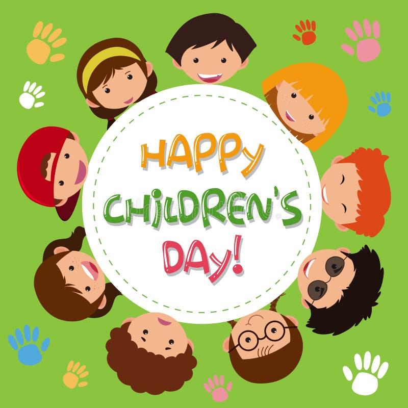 Um ícone das crianças felizes ilustração stock