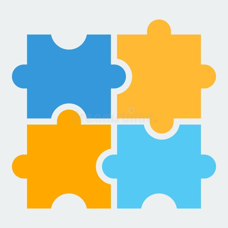 Um ícone do enigma O símbolo de jogos lógicos e tornando-se ilustração royalty free