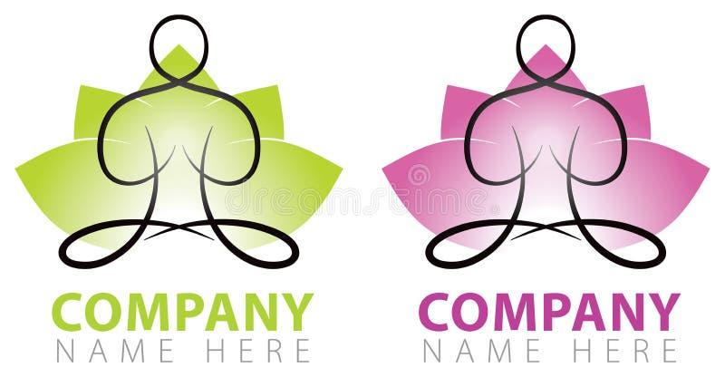 Logotipo da ioga ilustração stock