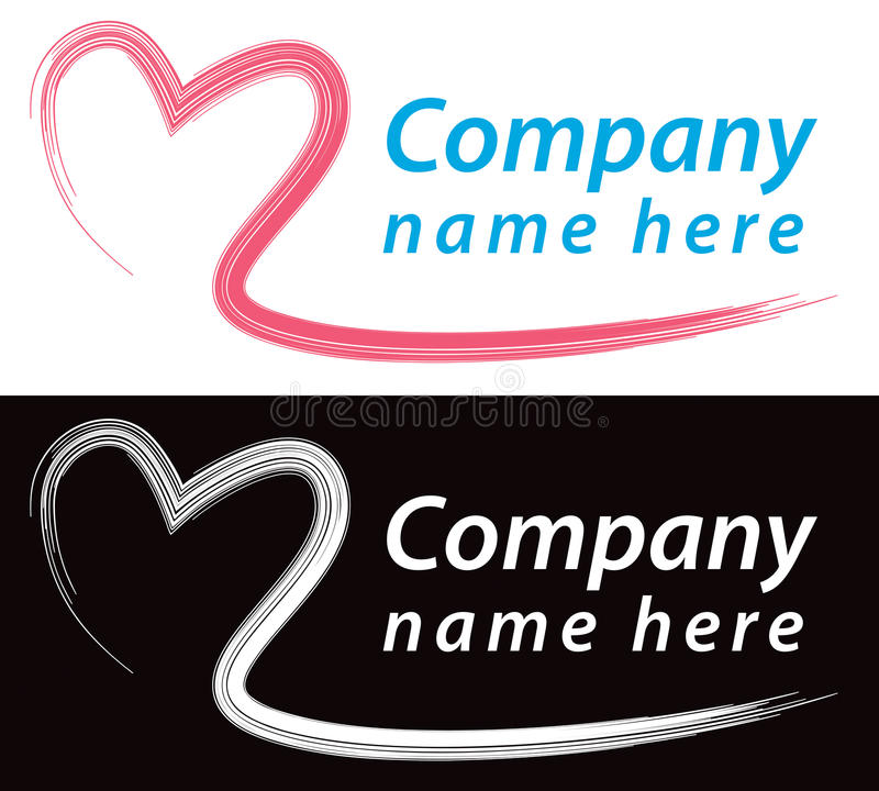 Logotipo do coração ilustração royalty free
