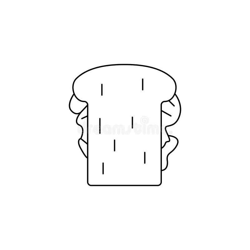 Um ícone do sanduíche Elemento do fast food para apps móveis do conceito e da Web Linha fina ícone para o projeto e os developmen ilustração royalty free