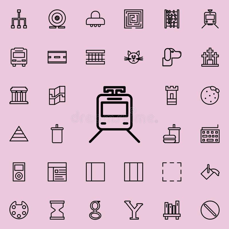 um ícone do trem Grupo detalhado de linha minimalistic ícones Projeto gráfico superior Um dos ícones da coleção para Web site, de ilustração stock