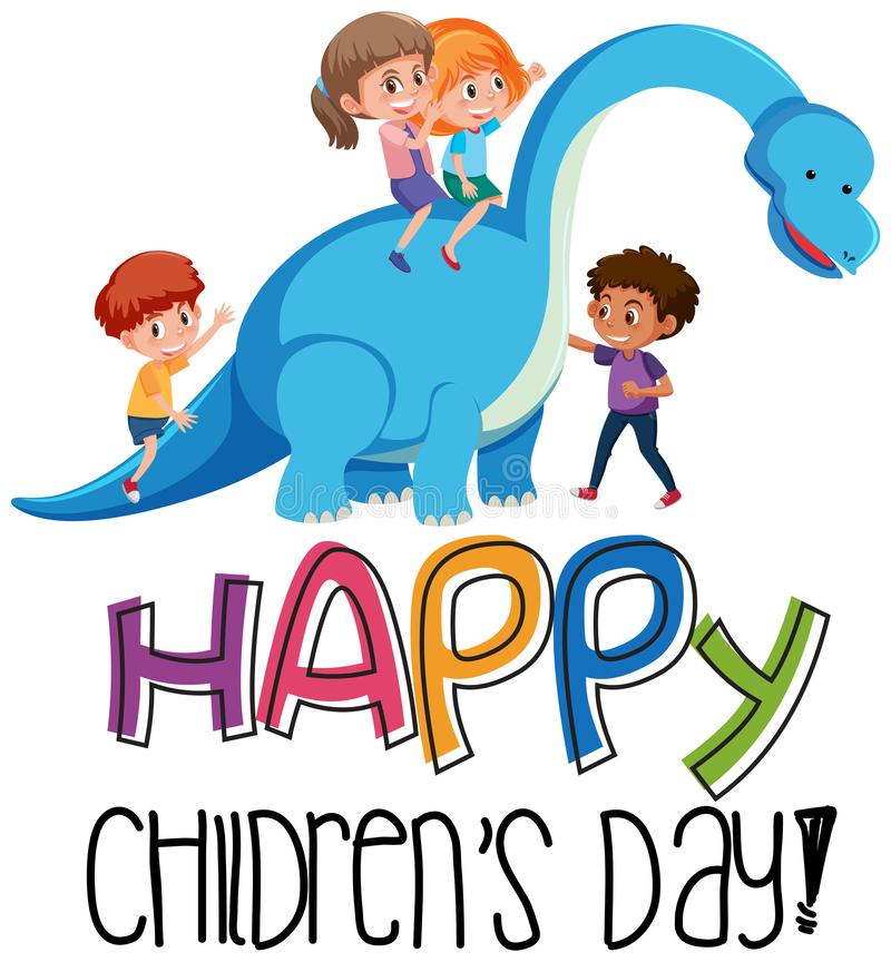 Um ícone feliz do dia das crianças ilustração do vetor
