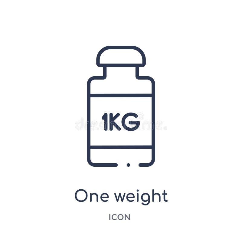 Um ícone linear do peso da coleção do esboço da medida Linha fina um ícone do peso isolado no fundo branco um peso ilustração stock