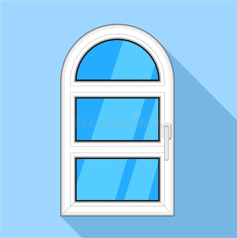 Um ícone plástico arqueado porta da janela ilustração royalty free
